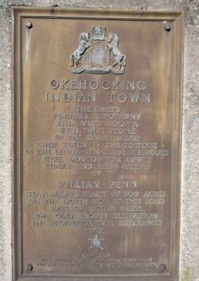 Okehocking Indian Town Marker image. Click for full size.