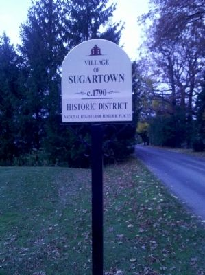 Historic Sugartown Marker image. Click for full size.