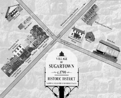 Village map of Historic Sugartown image. Click for full size.