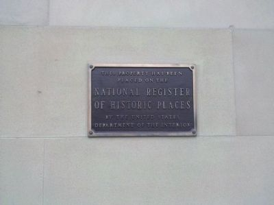 National Register Plaque - 1972 image. Click for full size.
