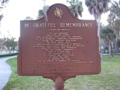 In Grateful Remembrance Marker image. Click for full size.