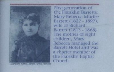 Lower left picture...Mary Rebecca Murfee Barrett (1822- 1897)... image. Click for full size.