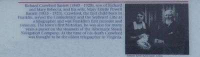 Richard Crawford Barrett (1849 - 1928), son of Richard and Mary Rebecca, and his wife, ... image. Click for full size.
