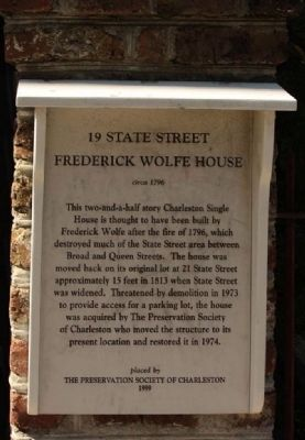 19 State Street - Frederick Wolfe House Marker image. Click for full size.