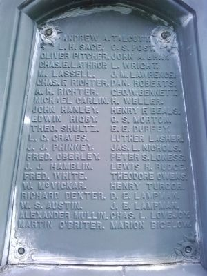 West side middle plaque names image. Click for full size.