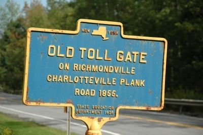 Old Toll Gate Marker image. Click for full size.
