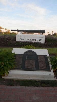 Fort MacArthur / 500 Varas Square Historic District Marker image. Click for full size.