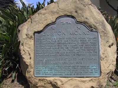 Burton Mound Marker image. Click for full size.