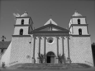 Mission Santa Barbara image. Click for full size.