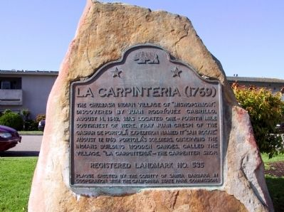 La Carpinteria (1769) Marker image. Click for full size.