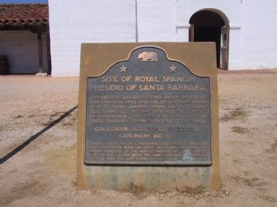 Site of Royal Spanish Presidio Marker image. Click for full size.
