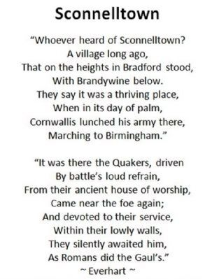 Sconnelltown - Poem written in 1779 image. Click for full size.