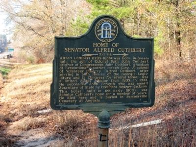 Home of Senator Alfred Cuthbert Marker image. Click for full size.