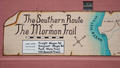 The Mormon Trail Mural - Part A image. Click for full size.