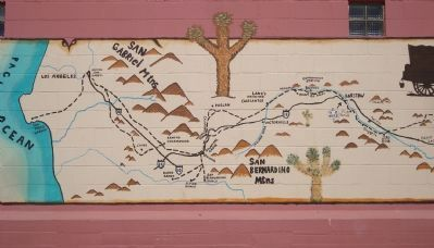 The Mormon Trail Mural - Part B image. Click for full size.
