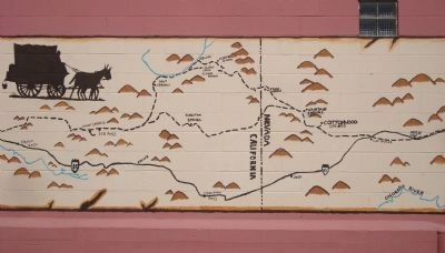 The Mormon Trail Mural - Part C image. Click for full size.