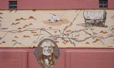 The Mormon Trail Mural - Part D image. Click for full size.