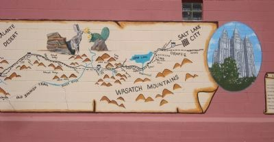 The Mormon Trail Mural - Part E image. Click for full size.