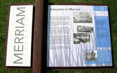 Education in Merriam Marker image. Click for full size.