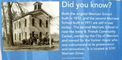 Did You Known? on Education in Merriam Marker image. Click for full size.