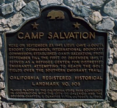 Camp Salvation Marker image. Click for full size.