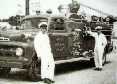 Fire Truck Photo on Incorporation of Merriam Marker image. Click for full size.