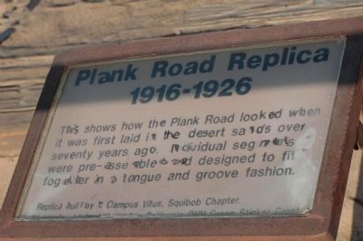 Plank Road Replica (1916-1926) image. Click for full size.