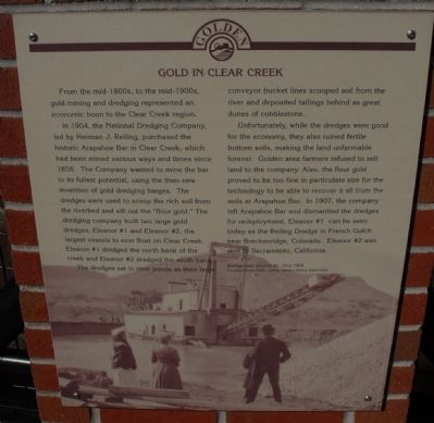 Gold in Clear Creek Marker image. Click for full size.