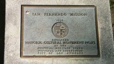 San Fernando Mission Los Angeles Historic Cultural Monument No. 23 image. Click for full size.