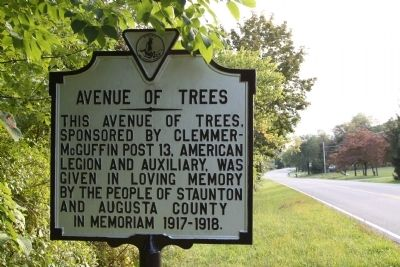 Avenue of Trees Marker image. Click for full size.