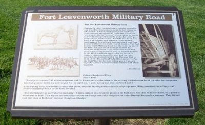 Fort Leavenworth Military Road Marker image. Click for full size.