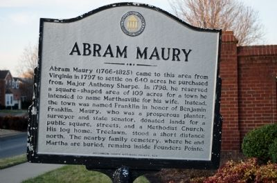 Abram Maury Marker image. Click for full size.