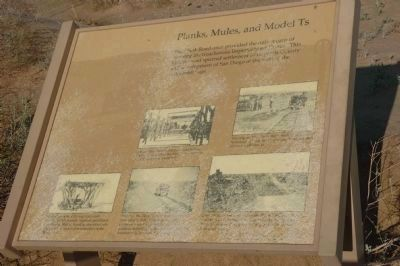 Planks, Mules, and Model Ts Marker image. Click for full size.