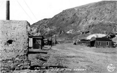 Town of Calico - 1931 image. Click for full size.