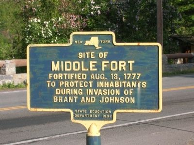 Site of Middle Fort Marker image. Click for full size.