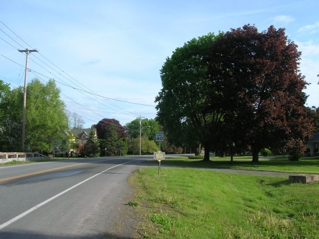 Site of Middle Fort Marker along Route 30 image. Click for full size.