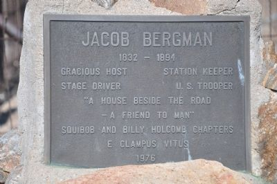 Jacob Bergman Marker image. Click for full size.