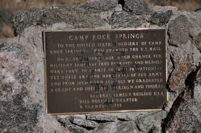 Camp Rock Spring Marker image. Click for full size.