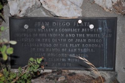 Juan Diego Flats Marker image. Click for full size.