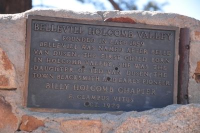 Bellevill Holcomb Valley Marker image. Click for full size.