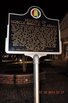 History of Muscle Shoals, Alabama Marker image. Click for full size.