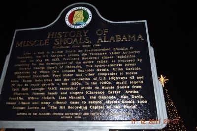 History of Muscle Shoals, Alabama Marker Reverse side image. Click for full size.