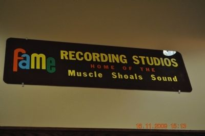 FAME Recording Studios Plaque image. Click for full size.