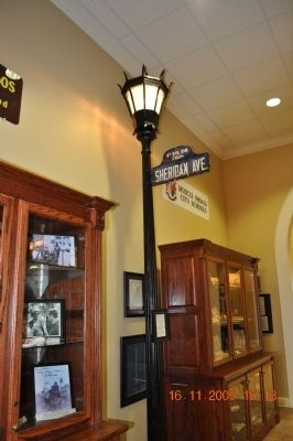 Street light of the beginning of Muscle Shoals and Memorabilia of the Shoals image. Click for full size.