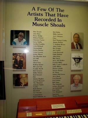 A Few of the Artist That Have Recorded in Muscle Shoals image. Click for full size.