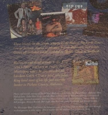 The Blues Trail: Mississippi to Alabama Marker image. Click for full size.