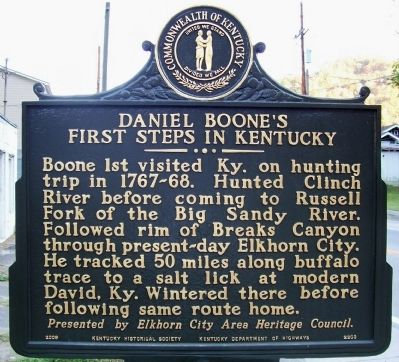 Daniel Boone's First Steps in Kentucky Marker image. Click for full size.