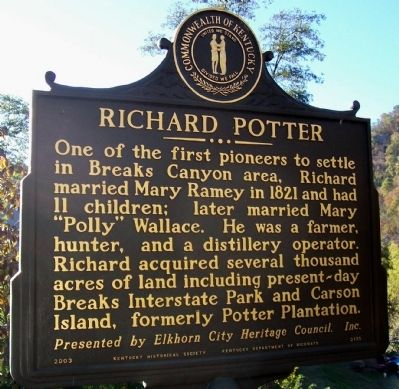 Richard Potter Marker image. Click for full size.