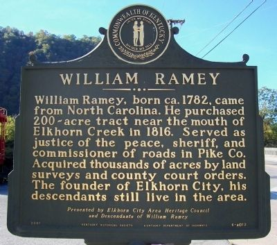 William Ramey Marker image. Click for full size.