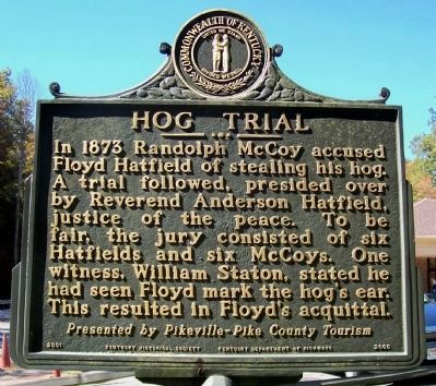 Hog Trial Marker (obverse) image. Click for full size.